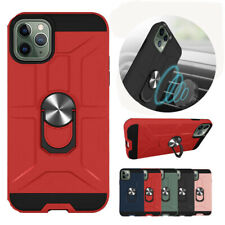 For iPhone 11 Pro Max Hybrid Shockproof Armor Ring Holder Rugged Hard Case Cover