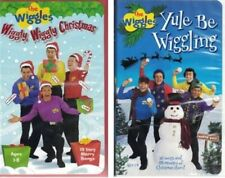 The Wiggles lot of 2 VHS Wiggly Wiggle Christmas & Yule Be Wiggling Ages 1-8