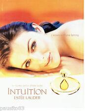PUBLICITE ADVERTISING 016  2000  ESTEE LAUDER  parfum Intuition femme