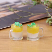 1Pc 1/12 Dollhouse Miniature Food Mini Resin Mango Milk Cup Drinks Model T mi