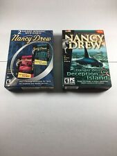 Nancy Drew PC Game Lot, 3 Games Total, Island Of Deception & Double Pack