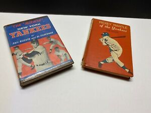 1958 First Edition MICKEY MANTLE of the NY YANKEES Schoor & 1962 MIRACLE Book HC