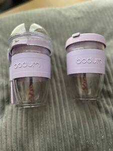 Bodum Joycup Travel Mug and Breakfast Yoghurt Granola Cup BRAND NEW Purple