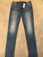 NWT WHITE HOUSE BLACK MARKET MID-RISE LIGHT WASH SLIM JEANS - SIZE 10 LONG - $80