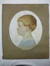 """Pastell """"Portrait eines Jungen"""" signiert Richard Zscheked, Friedrichsthal 1919"""