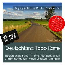 Deutschland Topo Karte 10m Höhenlinien 8 GB microSD für Garmin Navi, PC & MAC