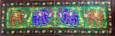 Hand made Indian tapestry wall hanging with Elephant motifs