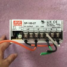 1pc Used MEAN WELL Switching Power Supply SP-100-27 (27V 3.8A )