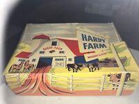Vintage 1950s Hardy Hard Plastic Farm Wagon Set in Original Box