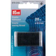 0,12 / m Prym Elastic-Nähfaden schwarz 20m/Ø0,5mm Fadengummi Bastelgummi 970010