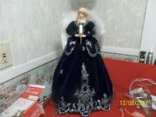 "Victorian~ Large 20"" ~ Dark Blue & Silver Angel Christmas Table or Tree Topper"