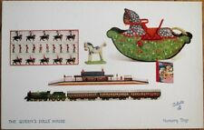 Queen's Dolls' House 1910 Raphael Tuck Postcard, 'Nursery Toys'