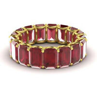 3.40 Carat Genuine Ruby Gemstone Wedding Band 14K Solid Yellow Gold Size 8 9