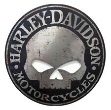 Harley-Davidson Cut Out Rustic Willie G Skull Aluminum Sign AC-HARL-CUSCGPX5