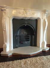 Grand French Louis plaster fire surround professional made,  none flamable