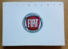 FIAT DUCATO HANDBOOK OWNERS MANUAL 2014 - 2018 PACK D-889