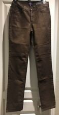 NYDJ Not Your Daughter's Jeans Skinny Size 0 Brown Shiny USA Women's Jeans