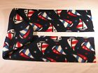 Sail Boats Red White and Blue Patriotic Sail Boat Fleece Scarf no fringe