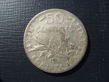 France Silver 50 Centimes 1916.