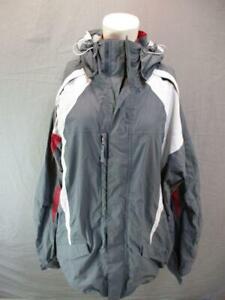 686 Size XXL Unisex Adults Gray Full Zip Waterproof Hooded Ski Jacket T995