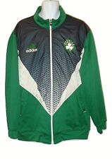 Adidas Boston Celtics Mens 2XL Green Color Block Logo Jacket Full Zip Size 2XL