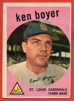 1959 Topps #325 Ken Boyer VG-VGEX WRINKLE St. Louis Cardinals FREE SHIPPING