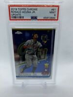 2019 Topps Chrome Update Ronald Acuna Jr Rookie Cup PSA 9 Mint Braves #81