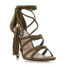 Dune Munroe - Khaki Ghillie Lace Up High Heel Sandal rrp£80 UK 3 EU 36 CH09 33