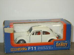 VW Volkswagen 1200LE Beetle Rolls Bonnet - Tomica Dandy F11 - 1:43 in Box *42939