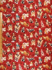 South Western Pueblo Dolls Look Print cotton fabric BY THE YARD BTY