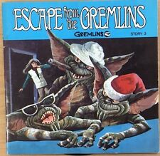 GREMLINS Story 3: Escape from the Gremlins (1984) Buena Vista book & record