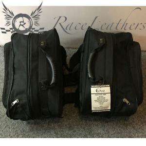 CHEAP SALE NOMAD SOFT BLACK SILVER MOTORCYCLE MOTORBIKE LUGGAGE BAG PANNIER SET