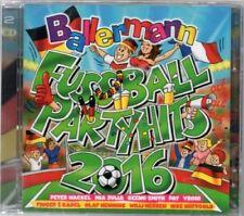 Tireur Football Party Hits 2016-Various - 2 CD-Neuf/Neuf dans sa boîte