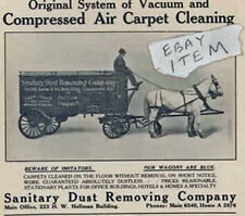 1907 Los Angeles California SANITARY DUST REMOVING WAGON Air Carpet Cleaning AD