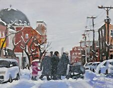 Snow Queens, Mile End, 8x10, Oil , Darlene Young Canadian Artist