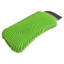 FusionBrands WaveSponge Silicone Scrub Sponge with Squeegee / Scraper - Green