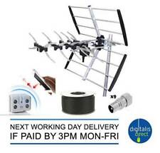 TV Aerial Kit for 2,3 or 4 Room Installation inc Booster, Pole and 25m Cable 4G