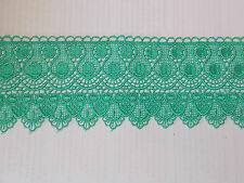 11cm mint green embroidered guipure lace bridal wedding dress prom trim veil net