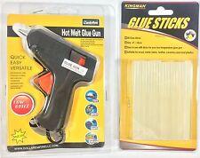 Hot Melt Glue Gun with 20 Clear Glue Sticks for Arts Craft 15W new Black