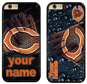 Custom Chicago Bears Personalised Name Hard Phone Case For iPhone/ Samsung