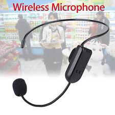 Hands-free Wireless FM Condenser Microphone Headset Megaphone Radio For Speaker