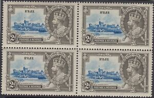 Stamps 1935 Fiji 2d KGV Jubilee SG243 block of 4, MUH/MH popular