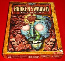 BROKEN SWORD II 2 LA PROFEZIA DEI MAYA Pc Ver Italiana1ª Ed Big Box COMPLETO EK