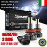 2X 55W H8 H9 H11 30000LM Auto Luci LED Fari Lampadine Kit Xenon HID 6000K 3 Lati