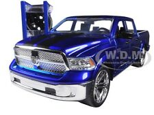 2014 DODGE RAM 1500 PICKUP TRUCK W/EXTRA WHEELS BLUE 1/24 MODEL BY JADA 97691
