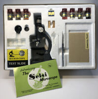 Selsi Zoom Microscope Kit #140 Japan 50 x 750x Zoom Science Experiment Set 1950s