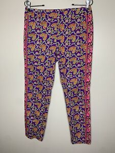 Ralph Lauren Polo Golf Women's Pants Size 4 Purple Geometric Print Tapered Leg