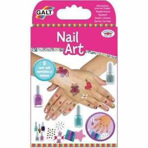 Galt Toys Nail Art - Polish Glitter Tattoos Kids Girls Fun Activity  - UK Seller