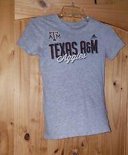 Girls Texas A&M Aggies Tshirt T shirt A & M Gray Maroon L 14 Adidas