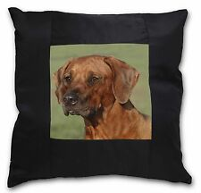 Rhodesian Ridgeback Dog Black Border Satin Feel Cushion Cover With P, AD-RR1-CSB